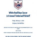 WK Boys Soccer 1st Annual Timberwolf Kickoff