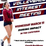 Volleyball Interest Meeting March 11