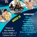 March 26 – Workout Run Day