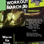Workout – March 30