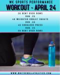Workout – April 24