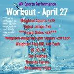 Workout – April 27