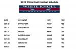 Varsity Football Schedule Change