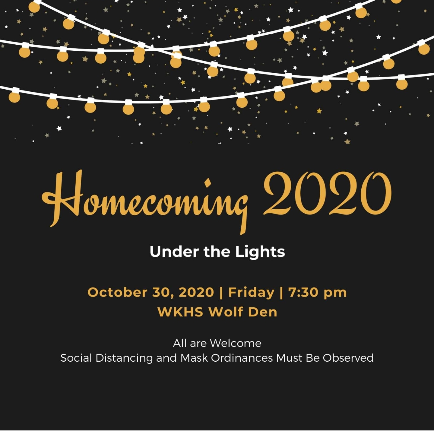 Homecoming 2020 Under the Lights
