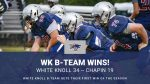 WK B-Team Gets First Win of the Season!