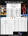 White Knoll Winter Sports Schedules