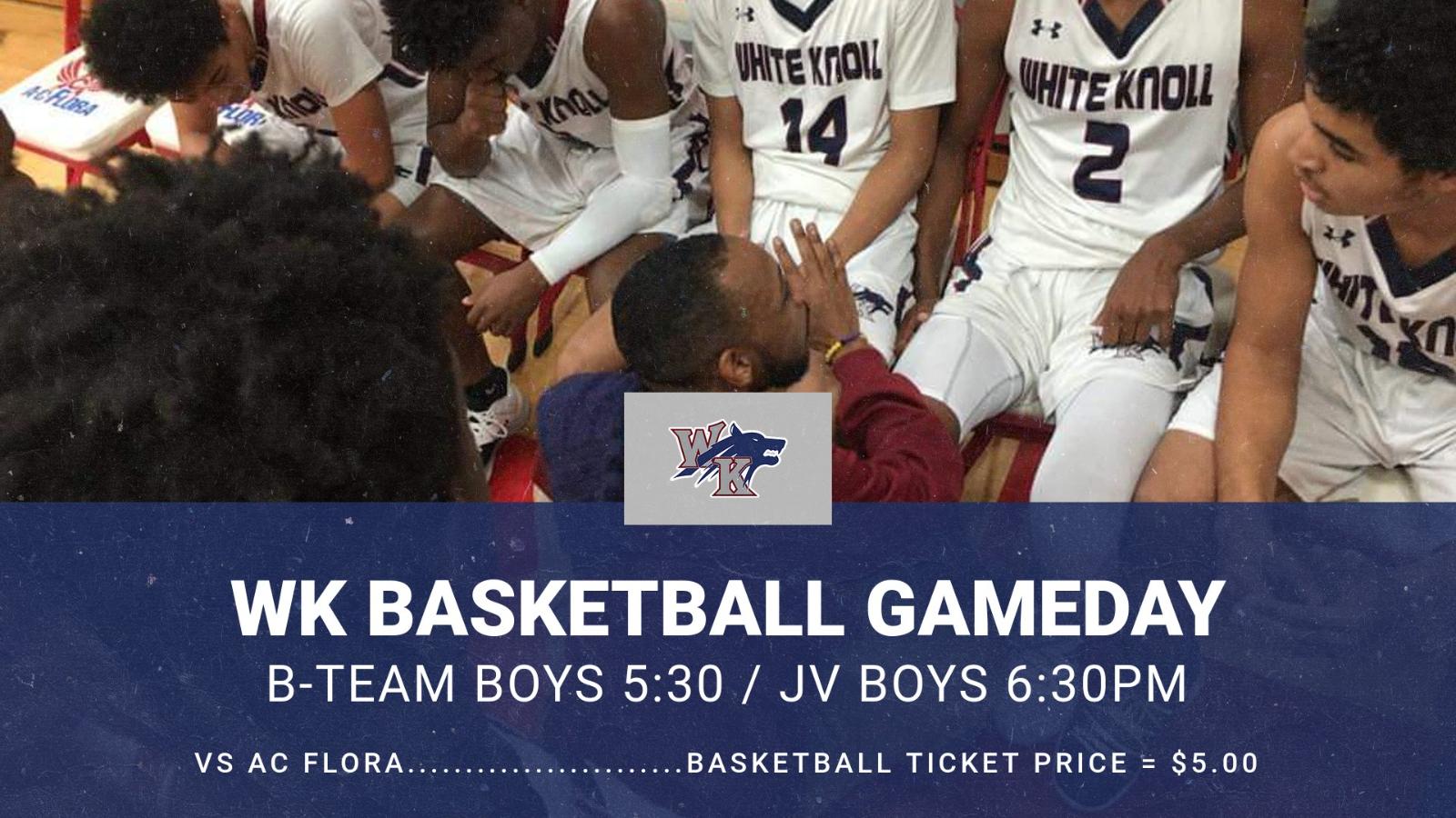 Gameday: B-Team and JV Boys Basketball vs AC Flora