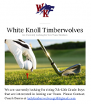 Looking for Any 7-12th Grade Boys Interested in Playing Golf!