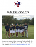 Looking for Any 7-12th Grade Girls Interested in Playing Golf!