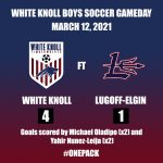 White Knoll Varsity Boys Soccer Defeats Lugoff Elgin
