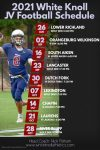 2021 White Knoll JV Football Schedule