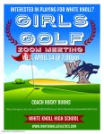 Interested in playing girls' golf for WK?