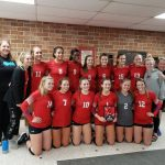 Girls Varsity Volleyball wins the Harlan Invite Championship going 5-0 on the day