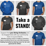 Support the Lynx Orchestra!  Take a Stand T-Shirt and Donation Fundraiser