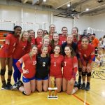 Varsity Volleyball wins the Red Oak Invite, going 6 – 0 on the day