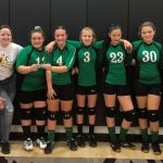 7th Grade girls volleyball team captures IVC tourney runner-up award