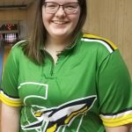 Samantha Myer posts first ever Lady Rocket bowling 200 game.
