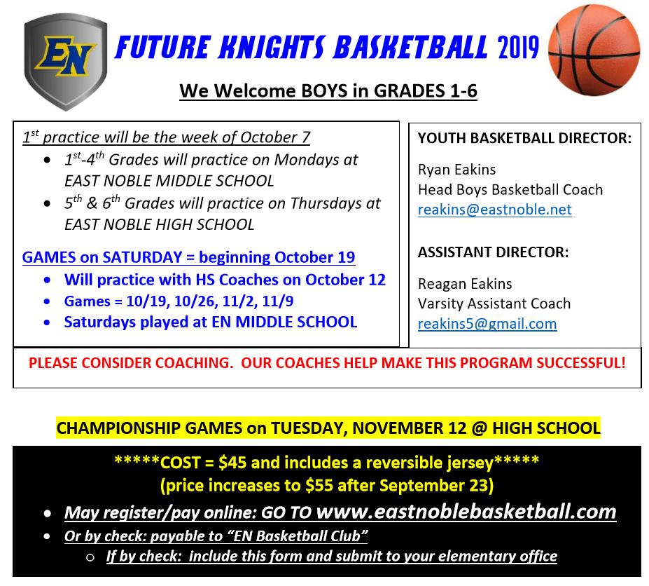 Future Knights Basketball Sign-ups