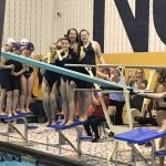 Girls Swim:  4th at NE8 Meet