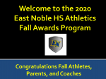FALL SPORTS AWARDS SLIDESHOW 2020