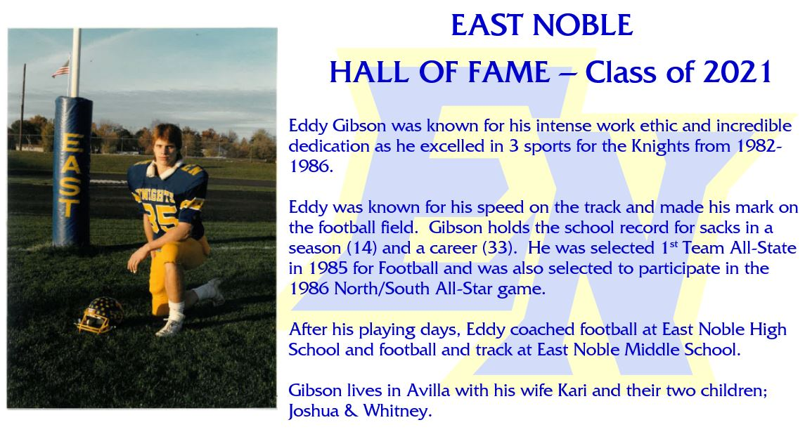 Hall of Fame Inductee – Eddy Gibson