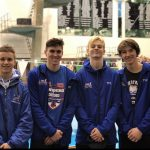 Derek Harlock, Christian Hoch, Ty Walker, and Chris Carney Break 400 Freestyle Relay School Record Again at OHSAA D1 Northeast District Championships