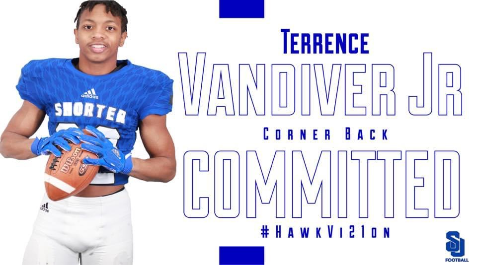 Terrence Vandiver commits to Shorter