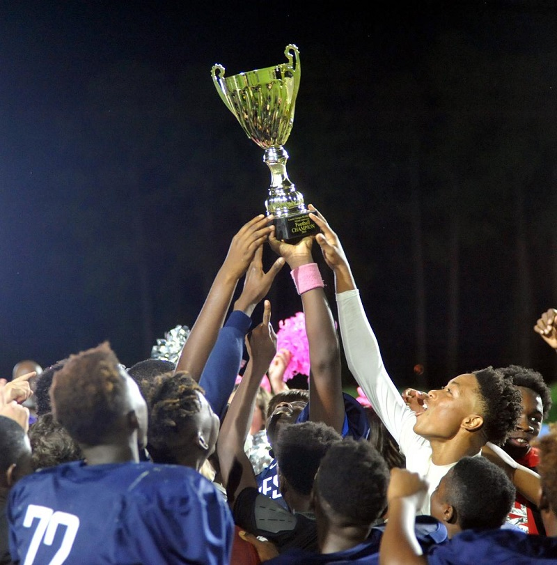 Jane Macon Eagles fly high, win football championship 30-6