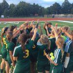 Lady Eagle Soccer Team 5-0 Beat St. Ursula 2-1