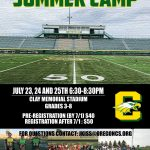 Last Week To Get Discounted Price For Clay Football Youth Camp
