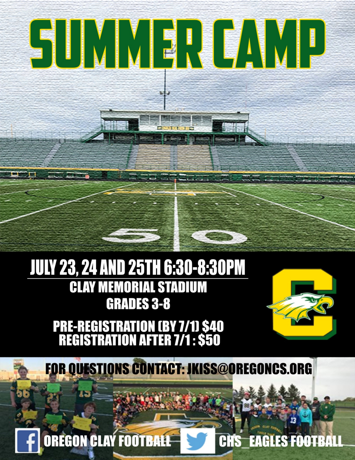 Early Registration For Football Camp Is Fast Approaching (7/1)