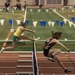 Lewis Competes At Indoor State Track Meet