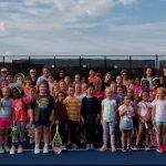 Students at the 2019 Valley Girls Tennis Fall Clinic