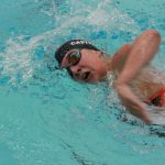 Valley girls' swimmer during meet