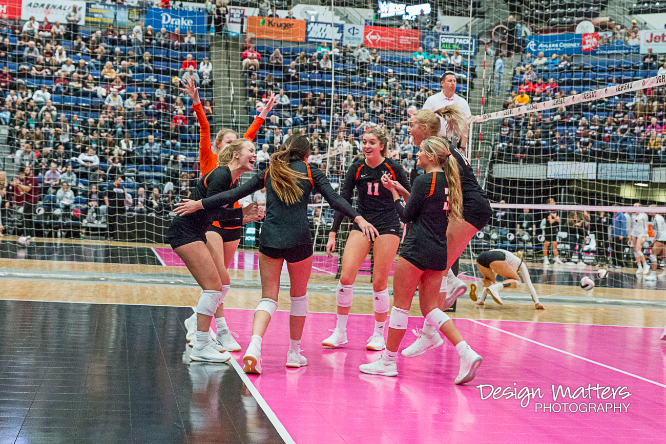 No. 3 Valley Falls to No. 1 Cedar Falls in State Volleyball Championship