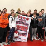 Photo of Valley wrestlers of 2020 District Meet at Dallas Center-Grimes
