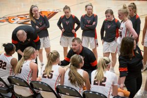 Photo of Valley girls' basketball team vs. Iowa City West