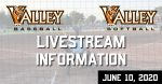 valley baseball softball livestream graphic