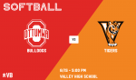 Valley vs. Ottumwa softball graphic
