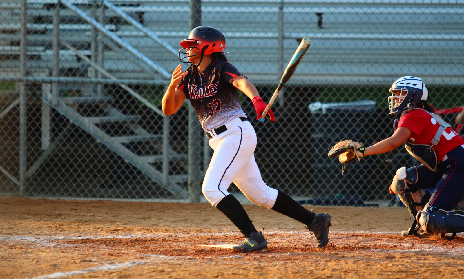 Photo from Valley vs. Urbandale softball game.