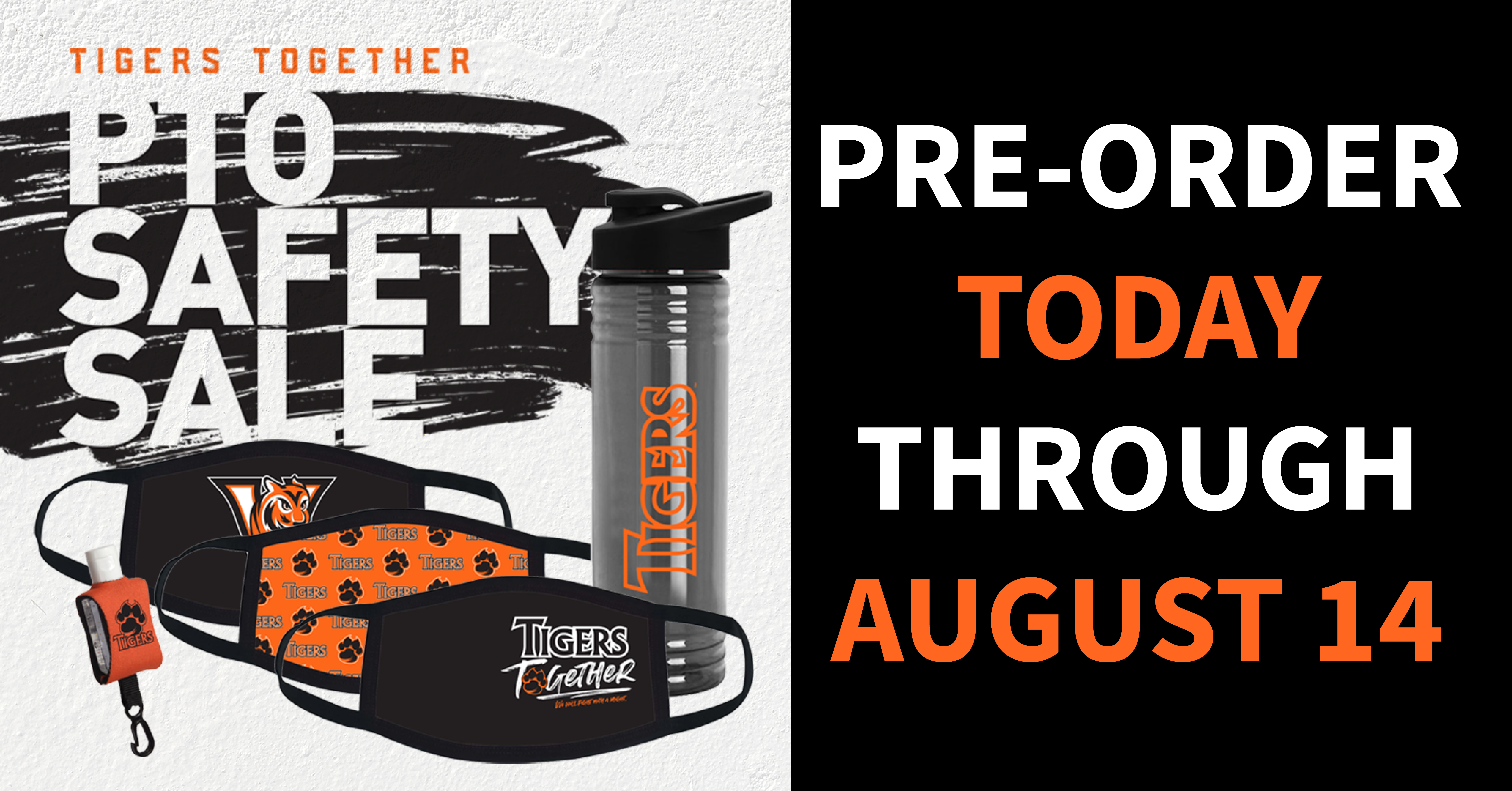 Tigers Together Safety Sale PTO