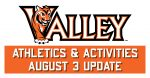 valley athletics and activities update august 3