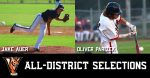 jake auer and oliver parizek named to all district baseball team