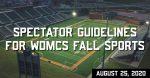 WDMCS Fall Sports Guidance