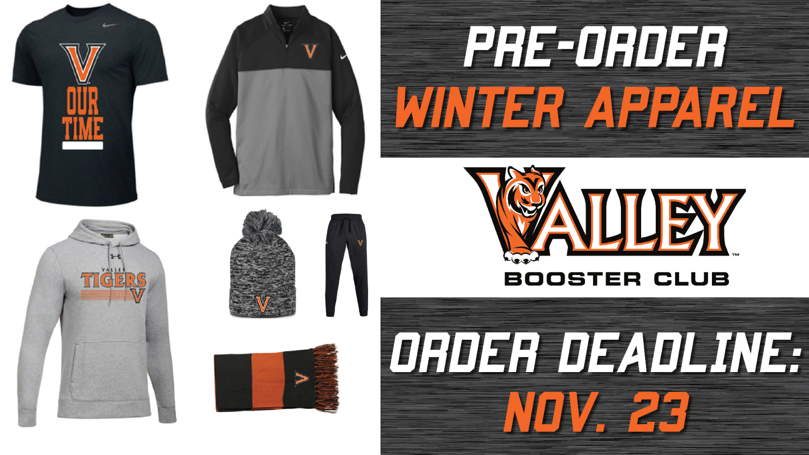 booster club winter store graphic