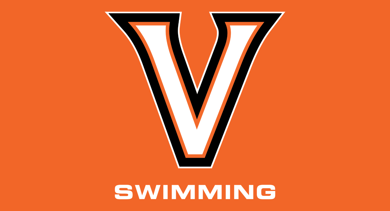 valley swimming - orange background