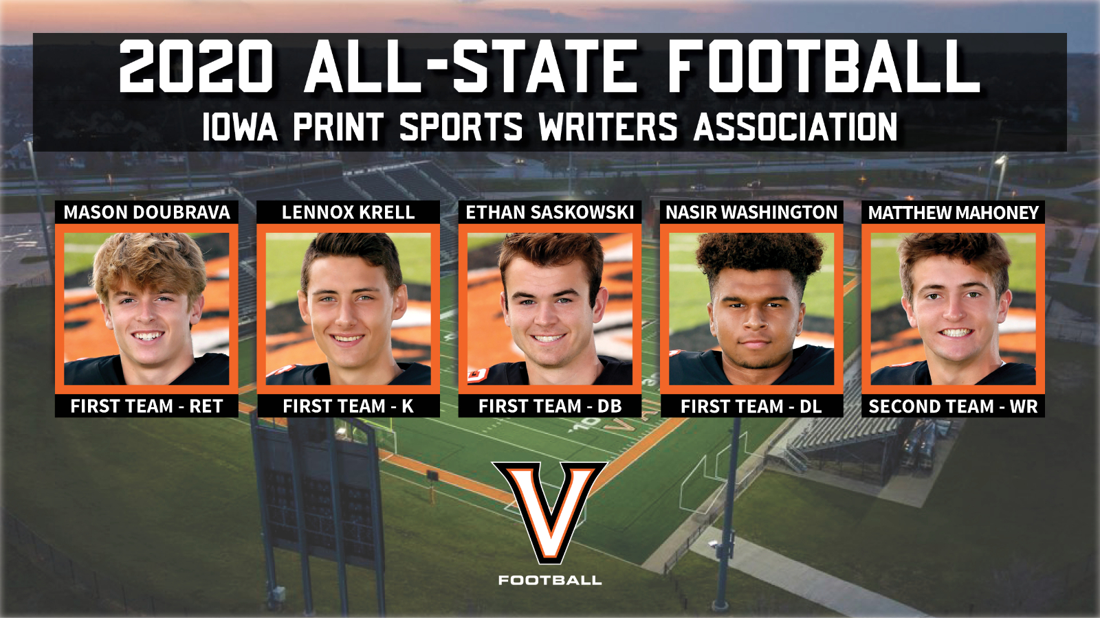 Five Tigers Named All-State By IPSWA & IFCA