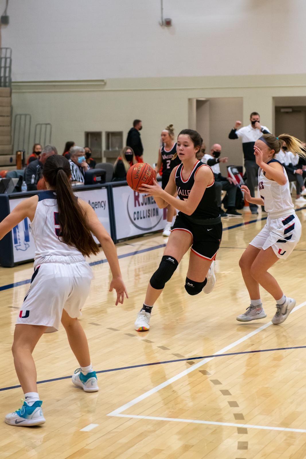 Valley girls' basketball vs. Urbandale on Friday, Jan. 15, 2021.
