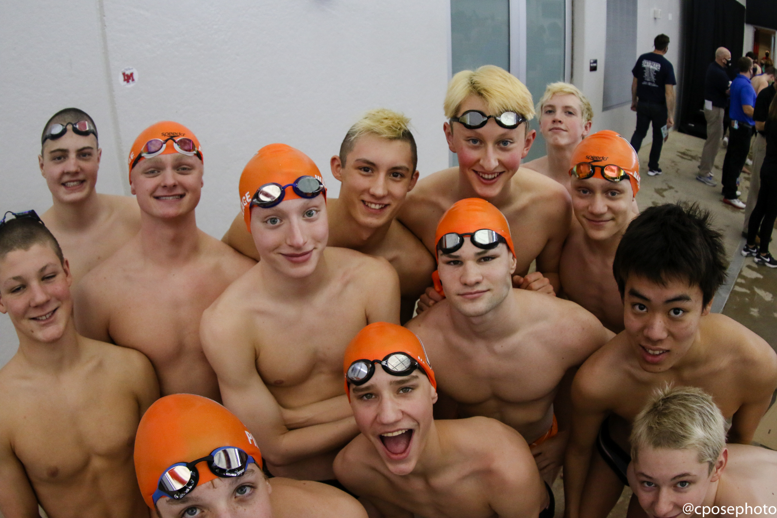 Valley Boys' Swimming at 2021 State Meet on Saturday, Feb. 13, 2021.