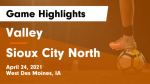valley boys soccer sioux city north game highlights